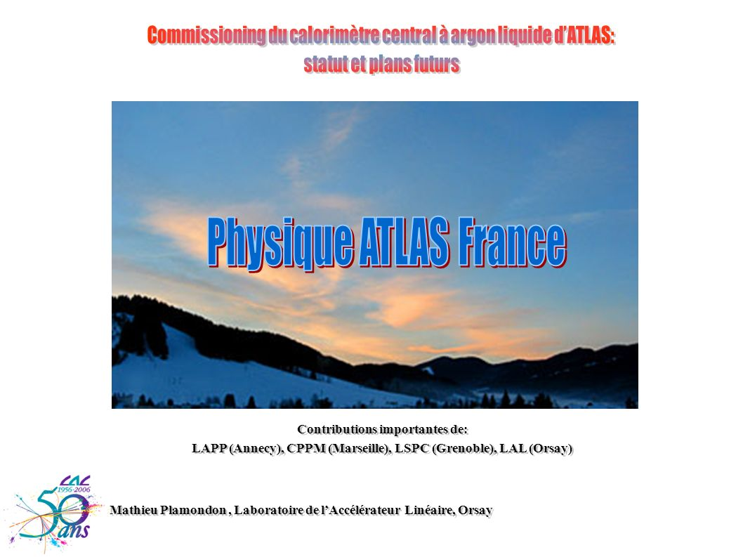 Commissioning du calorimètre central à argon liquide d'ATLAS: