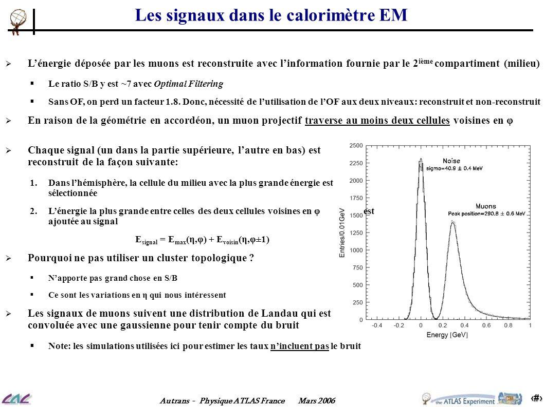 Les signaux dans le calorimètre EM