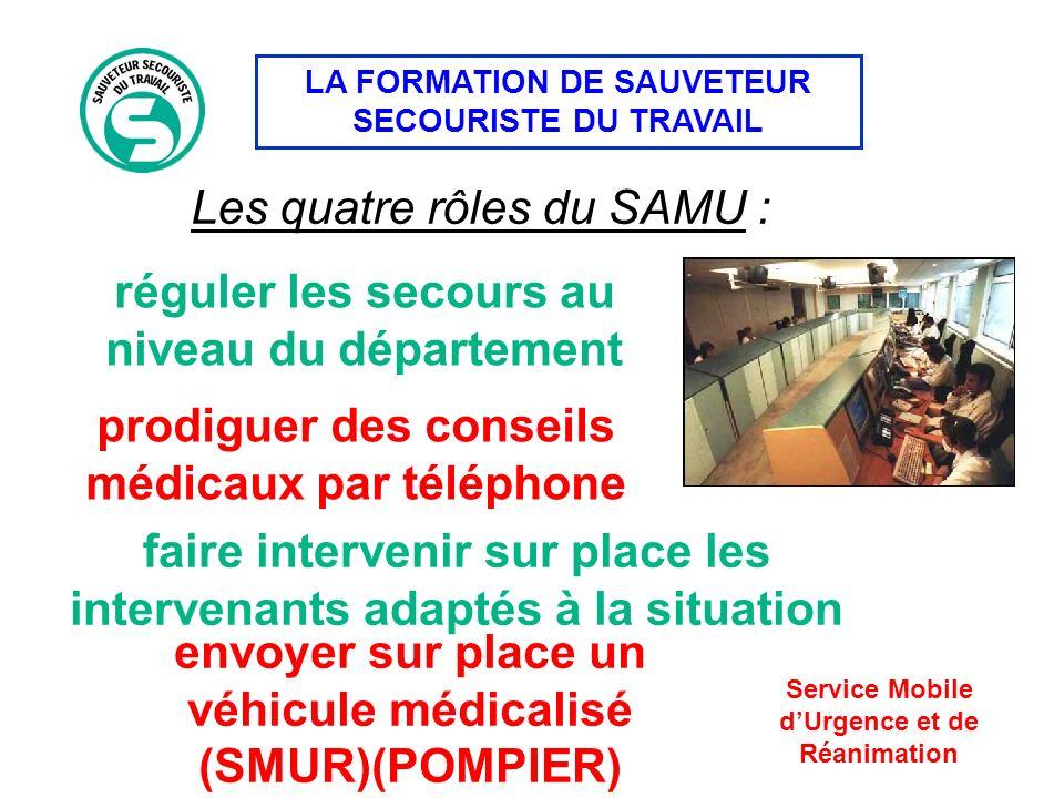 Les quatre rôles du SAMU :