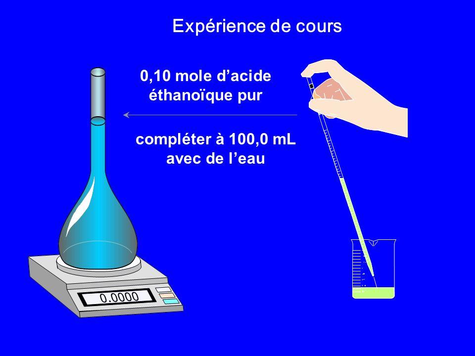 0,10 mole d'acide éthanoïque pur