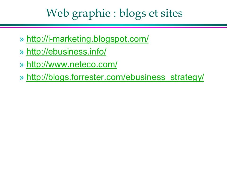 Web graphie : blogs et sites
