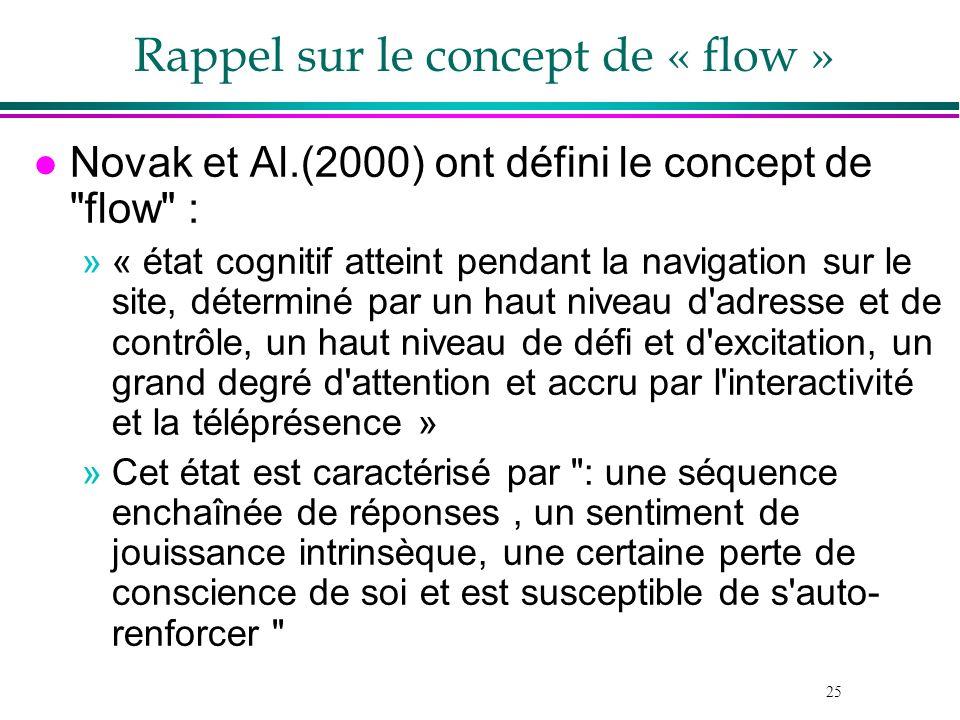 Rappel sur le concept de « flow »