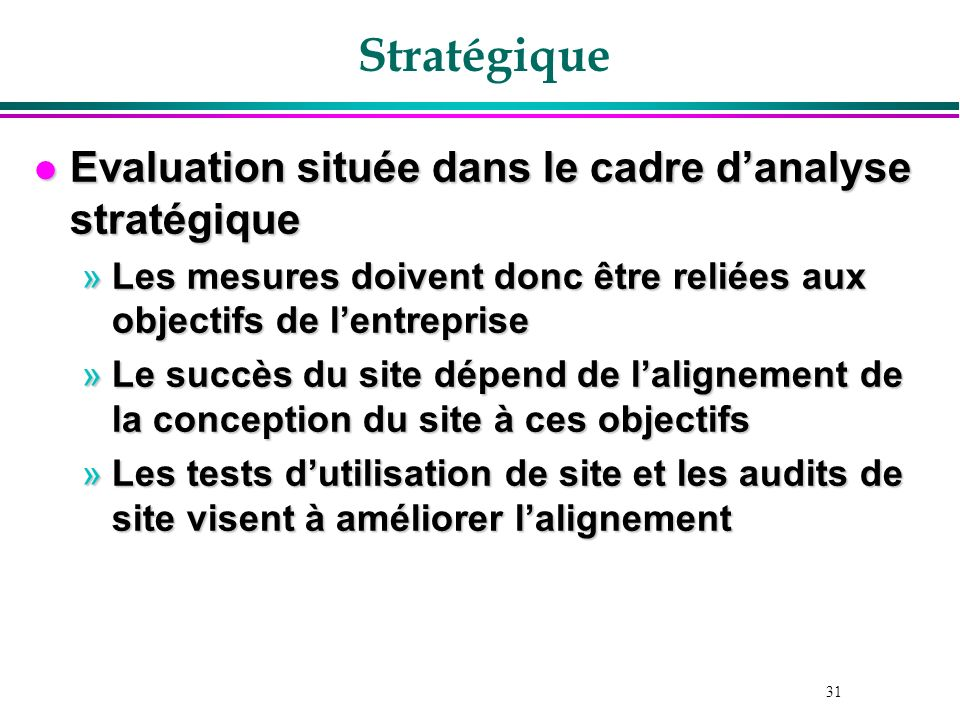 Stratégique Evaluation située dans le cadre d'analyse stratégique