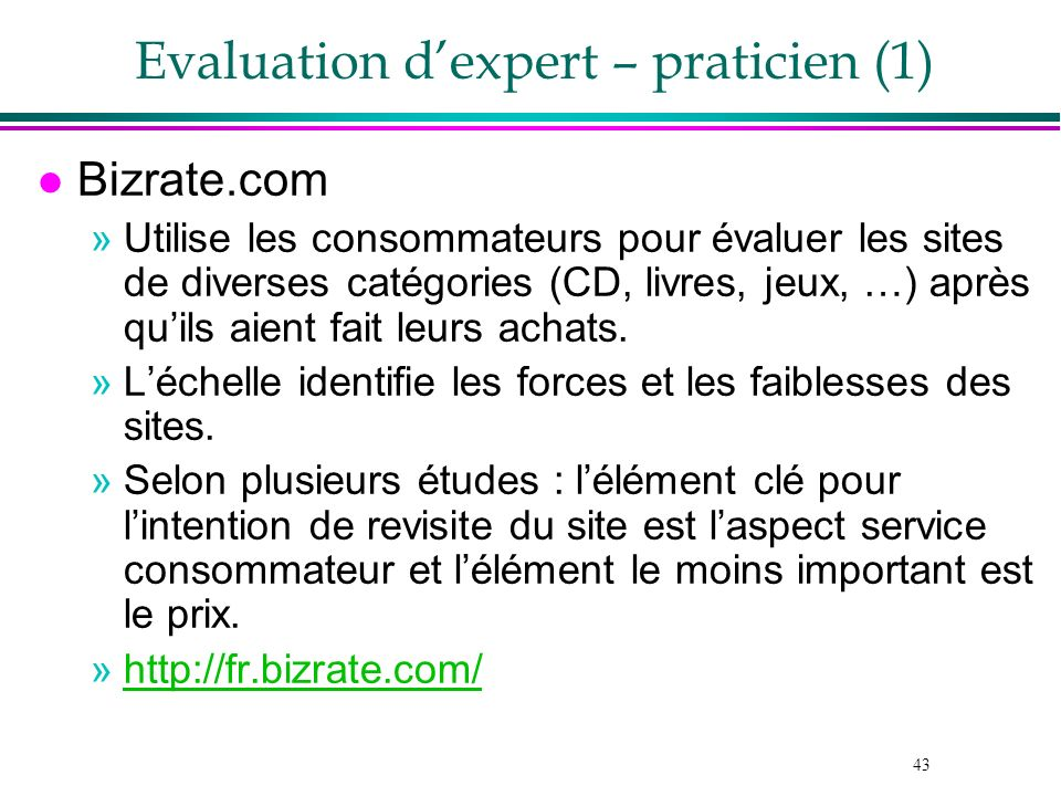 Evaluation d'expert – praticien (1)