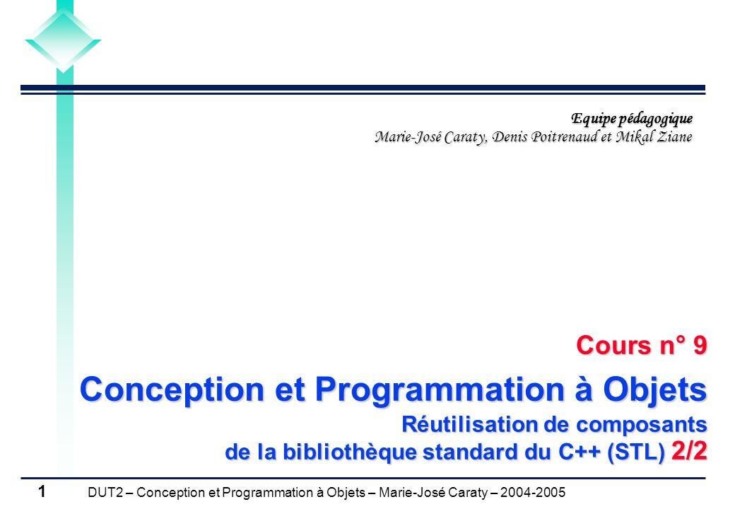 Cours n° 9 Conception et Programmation à Objets
