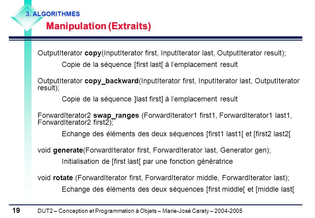 Manipulation (Extraits)
