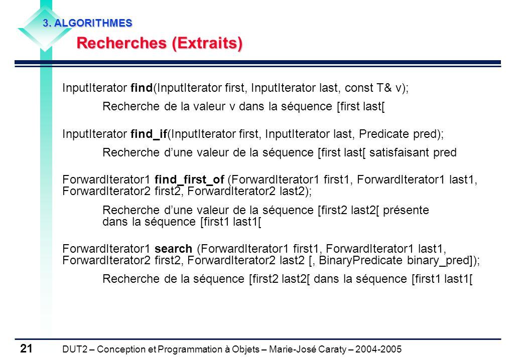 Recherches (Extraits)
