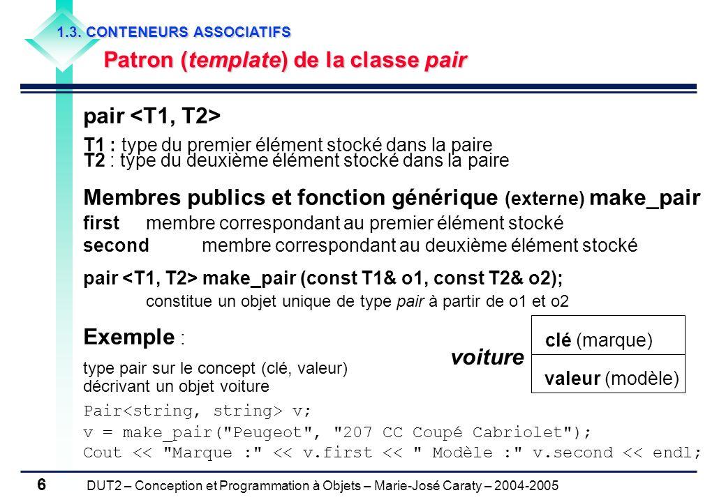 Membres publics et fonction générique (externe) make_pair