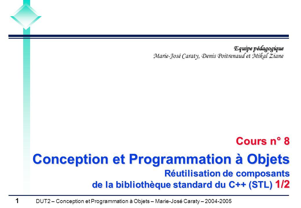 Cours n° 8 Conception et Programmation à Objets