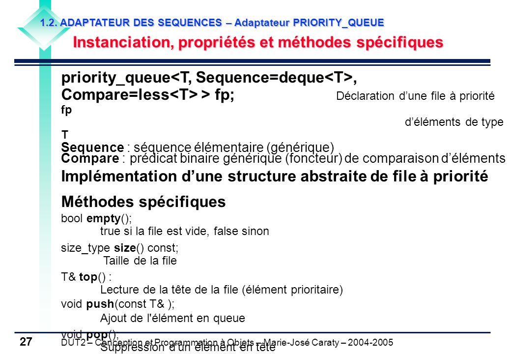 Implémentation d'une structure abstraite de file à priorité
