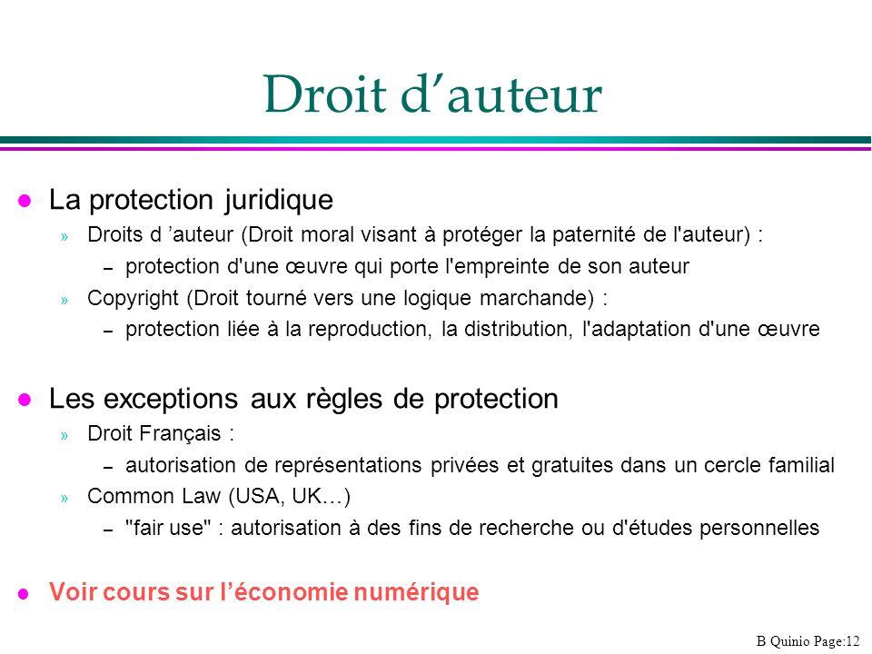 Droit d'auteur La protection juridique