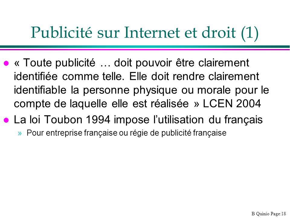 Publicité sur Internet et droit (1)