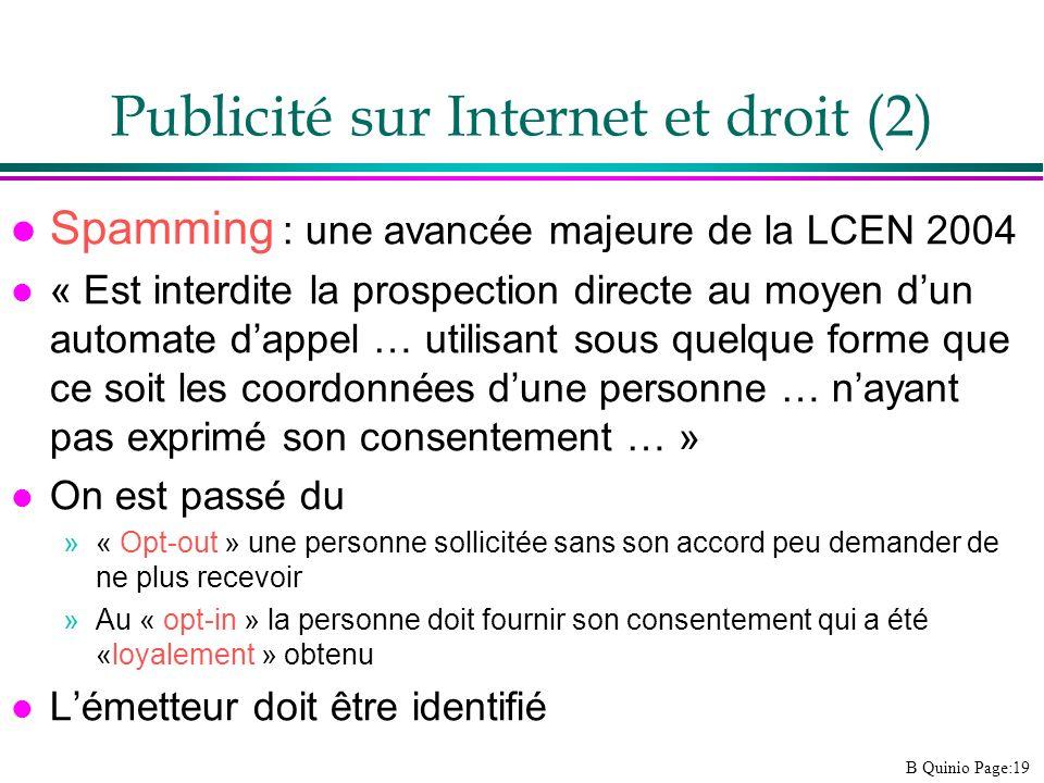 Publicité sur Internet et droit (2)
