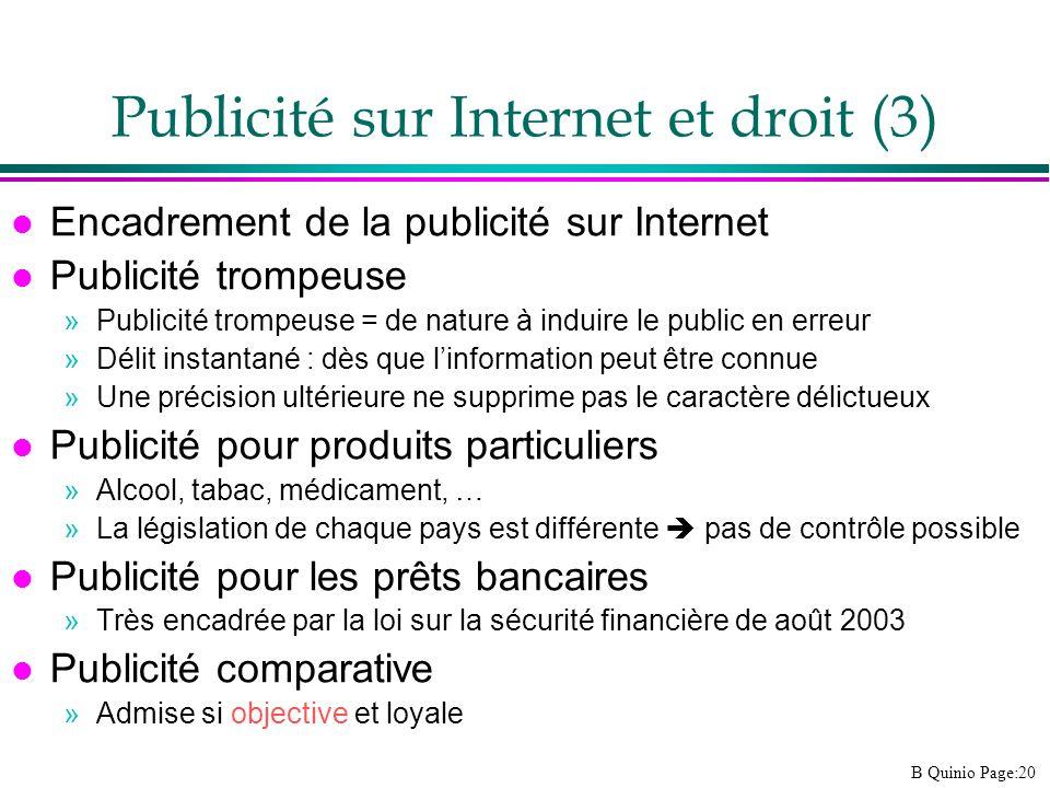 Publicité sur Internet et droit (3)