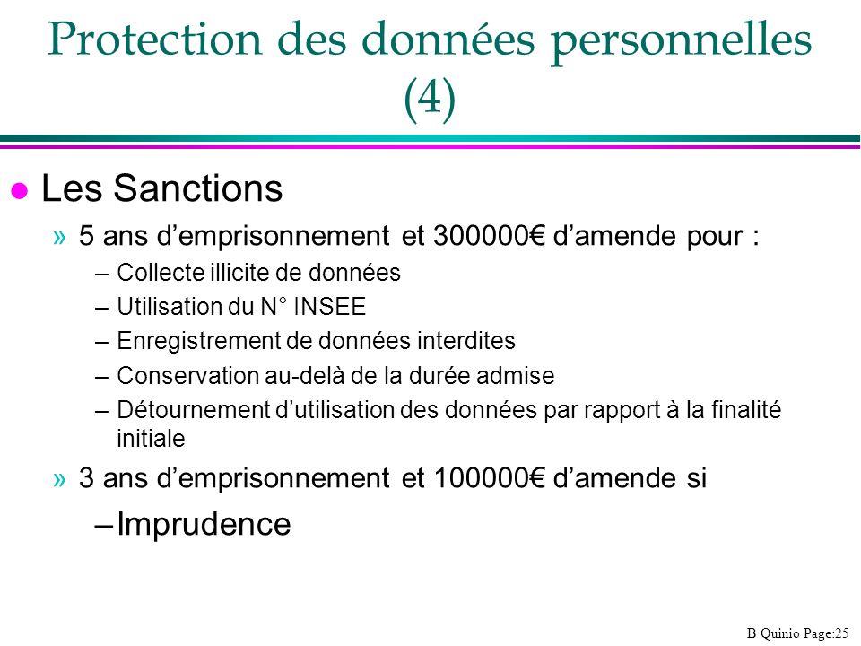 Protection des données personnelles (4)