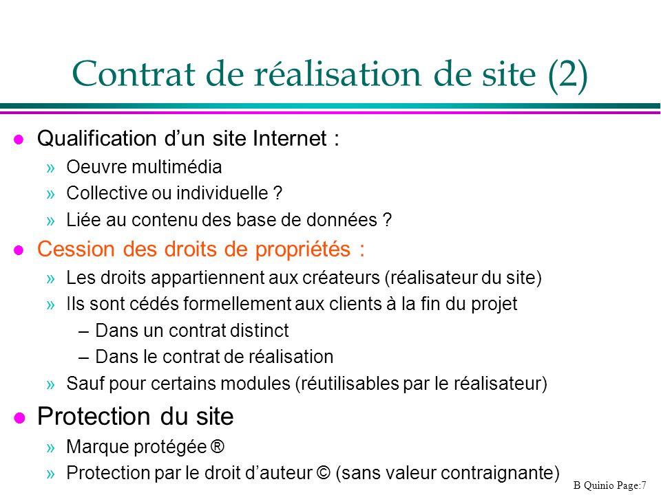Contrat de réalisation de site (2)
