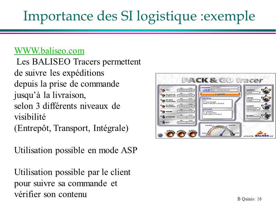 Importance des SI logistique :exemple