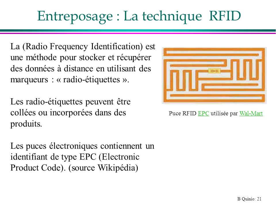 Entreposage : La technique RFID