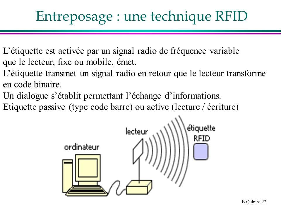 Entreposage : une technique RFID