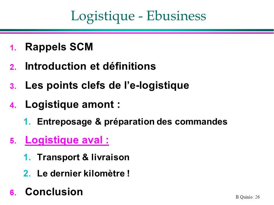 Logistique - Ebusiness