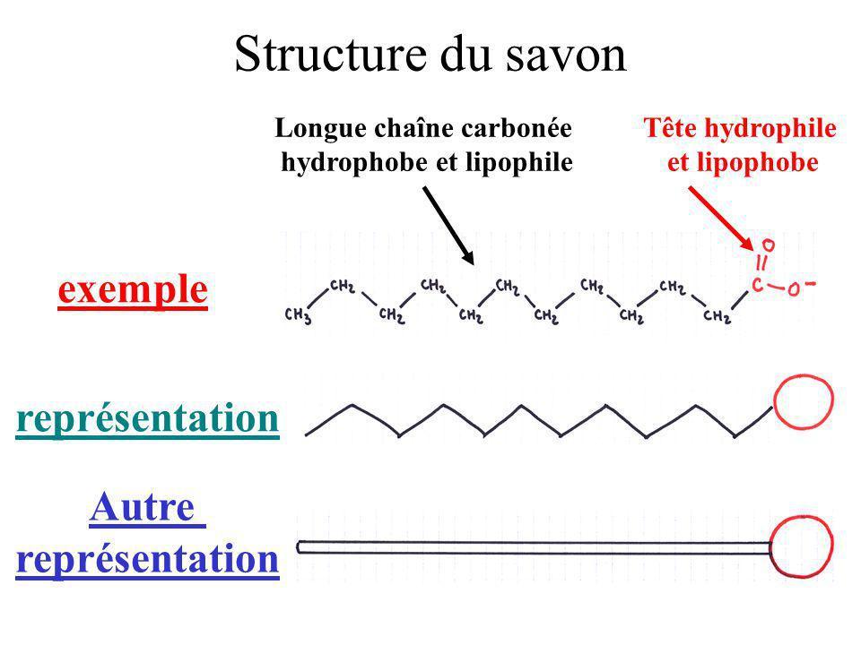 Longue chaîne carbonée hydrophobe et lipophile