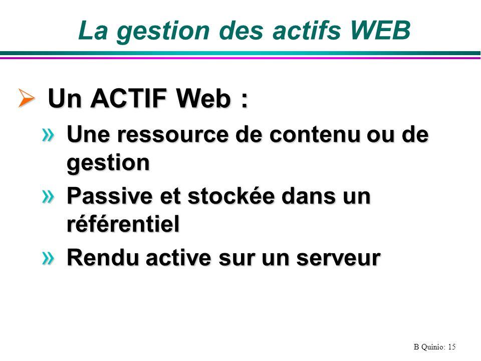 La gestion des actifs WEB