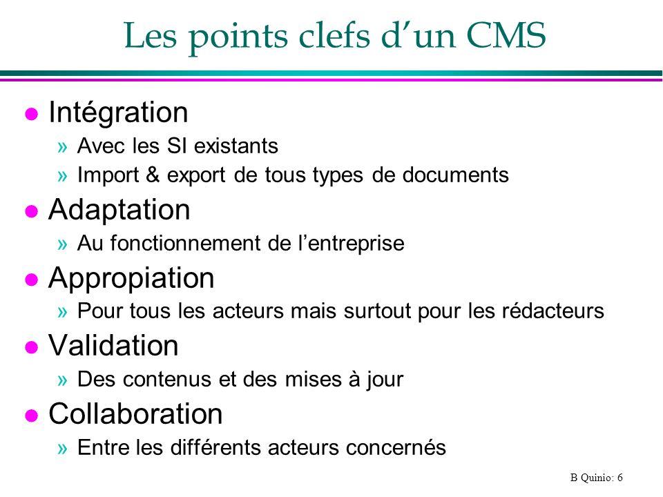 Les points clefs d'un CMS