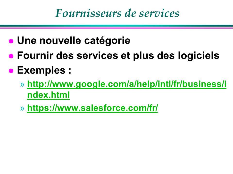 Fournisseurs de services