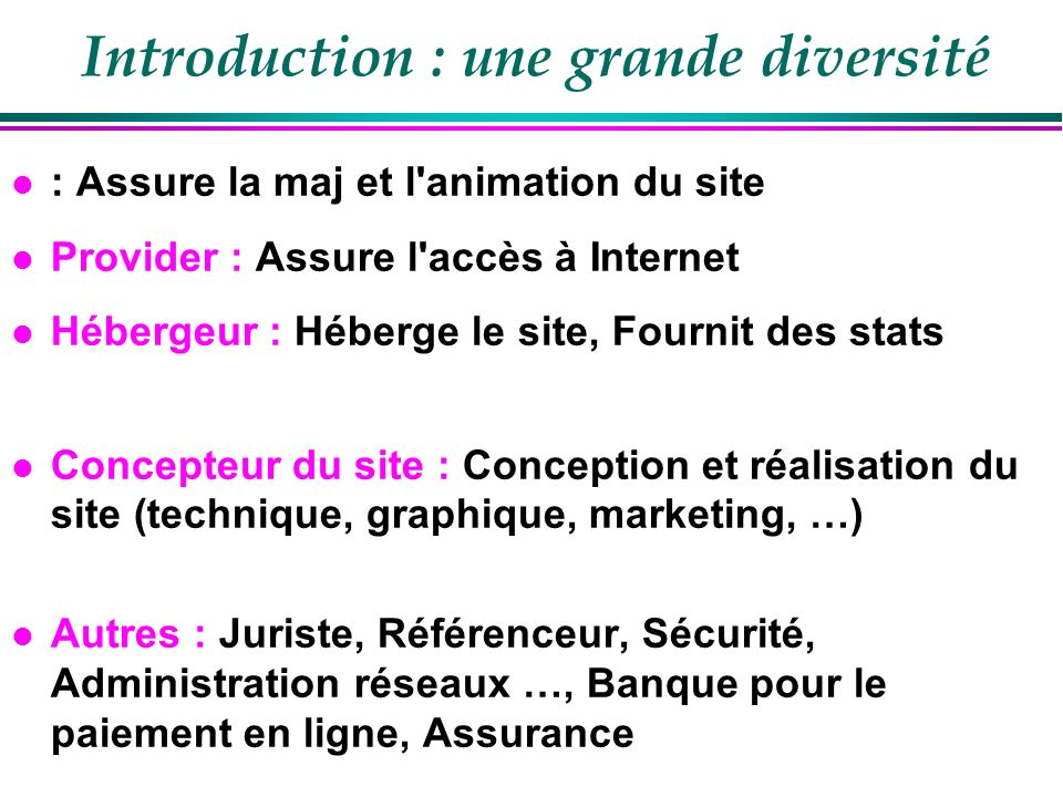 Introduction : une grande diversité