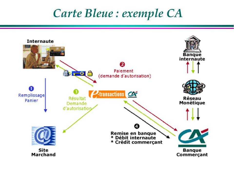 Carte Bleue : exemple CA