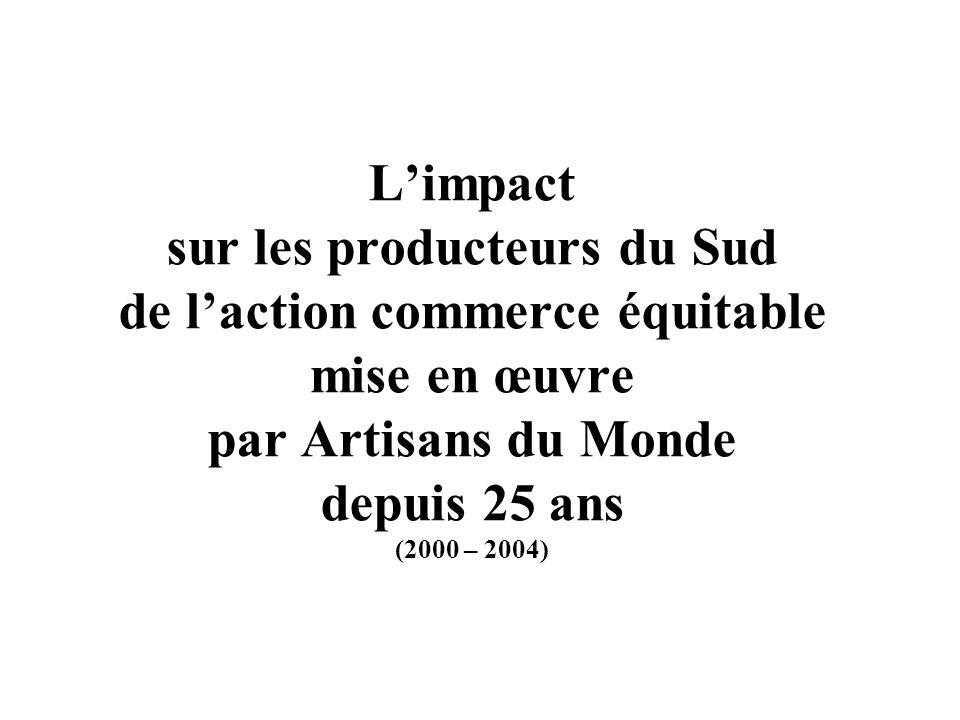 L'impact sur les producteurs du Sud de l'action commerce équitable mise en œuvre par Artisans du Monde depuis 25 ans (2000 – 2004)