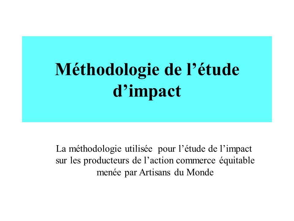 Méthodologie de l'étude d'impact