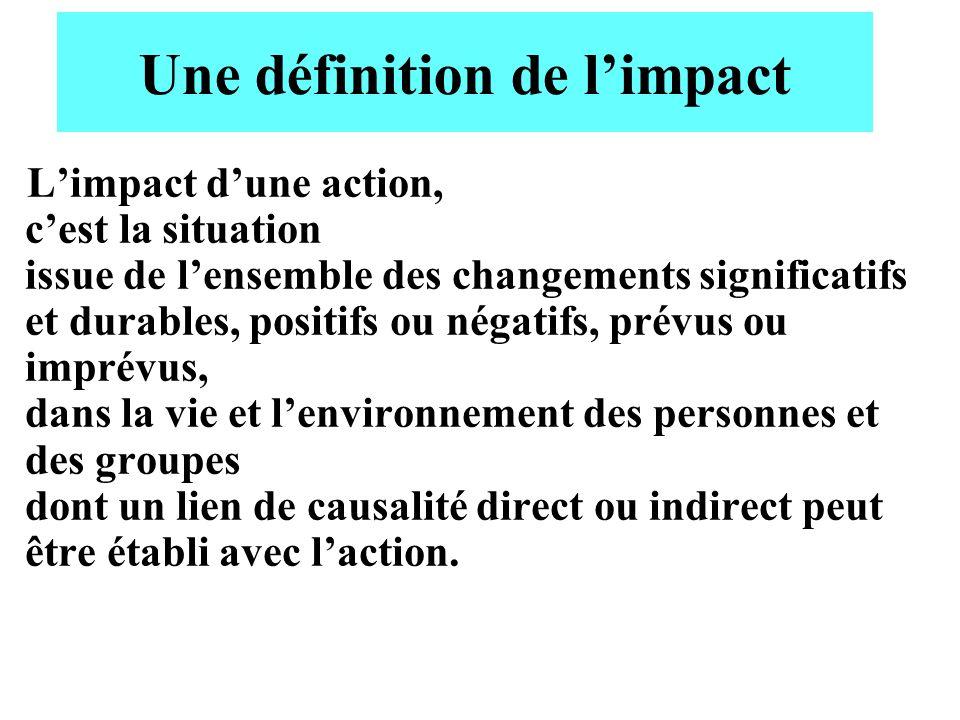 Une définition de l'impact