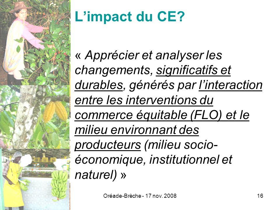 L'impact du CE
