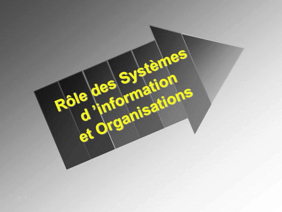Rôle des Systèmes d 'information et Organisations
