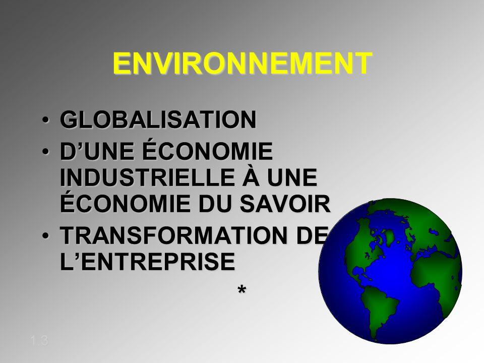 ENVIRONNEMENT GLOBALISATION