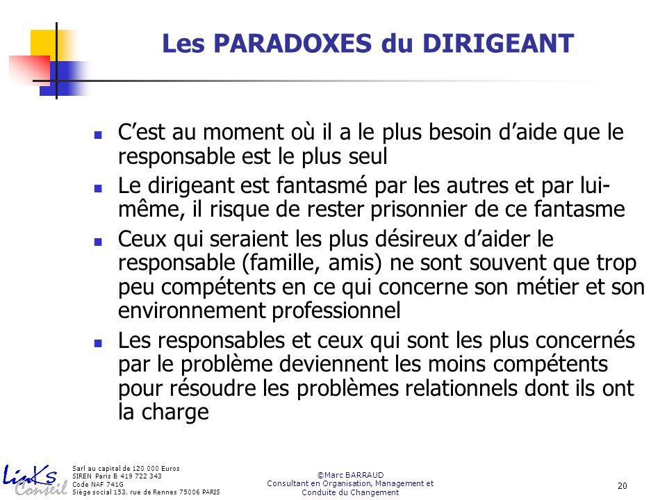 Les PARADOXES du DIRIGEANT