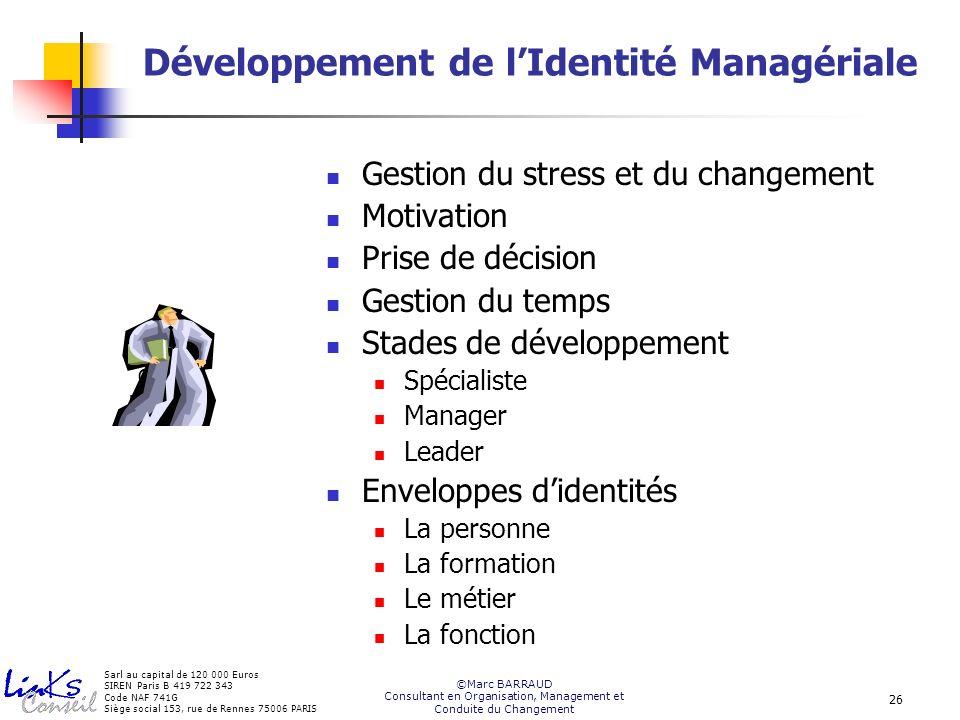 Développement de l'Identité Managériale
