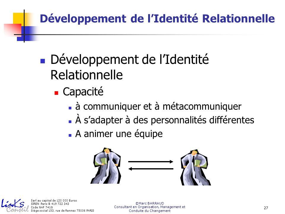 Développement de l'Identité Relationnelle