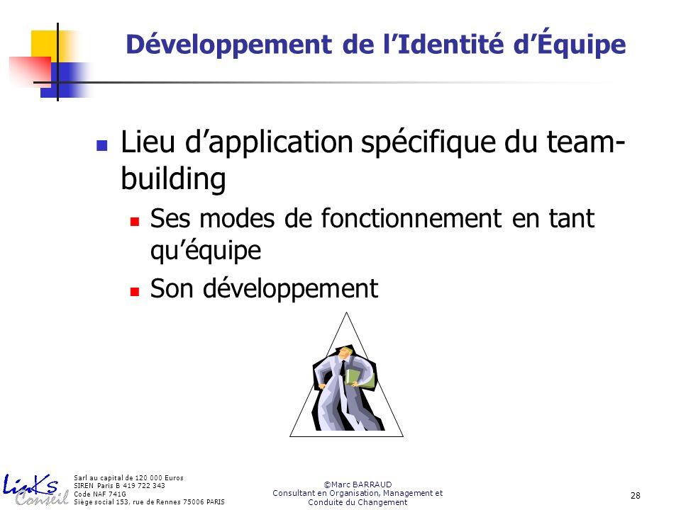 Développement de l'Identité d'Équipe
