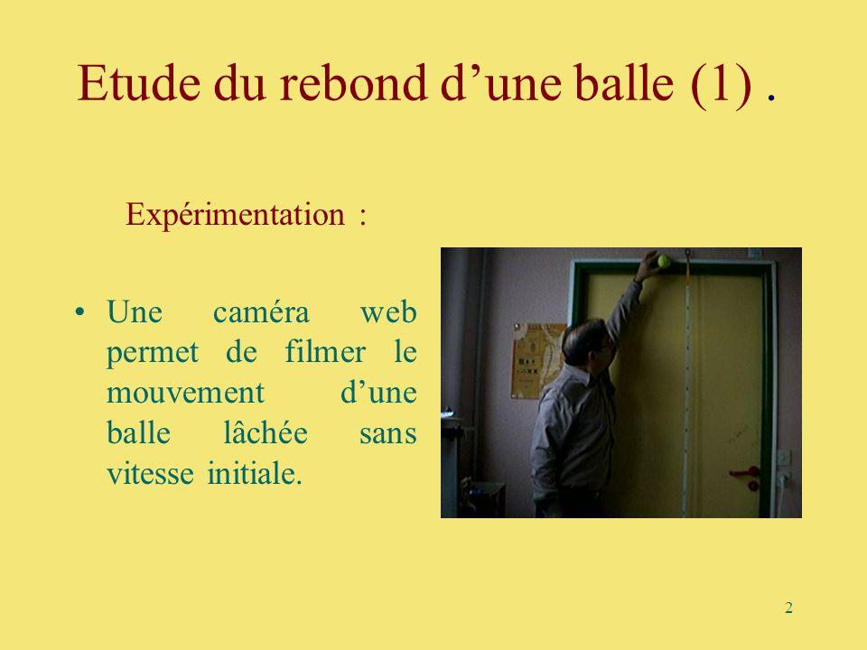 Etude du rebond d'une balle (1) .