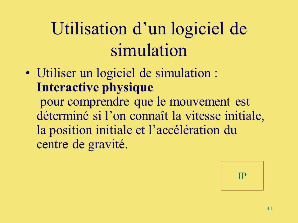 Utilisation d'un logiciel de simulation