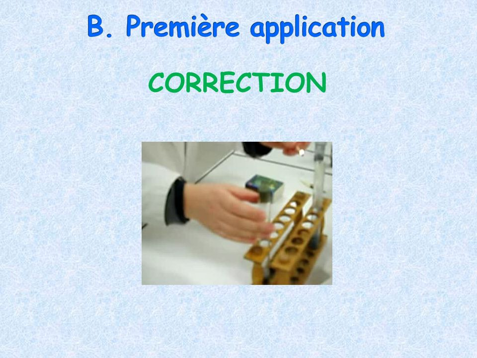 B. Première application