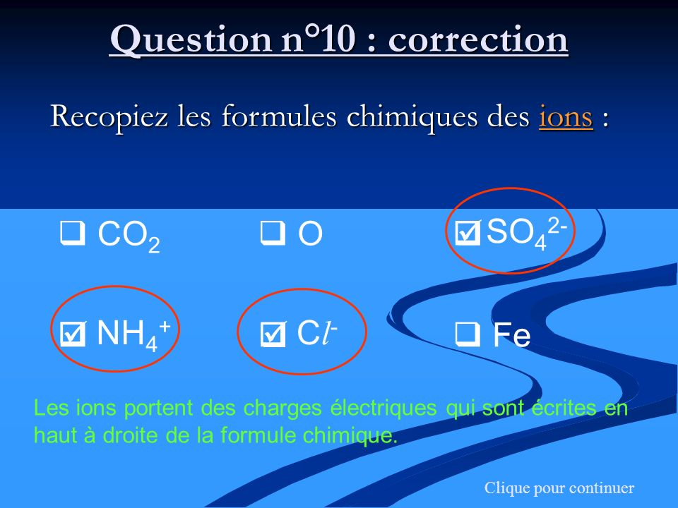 Question n°10 : correction