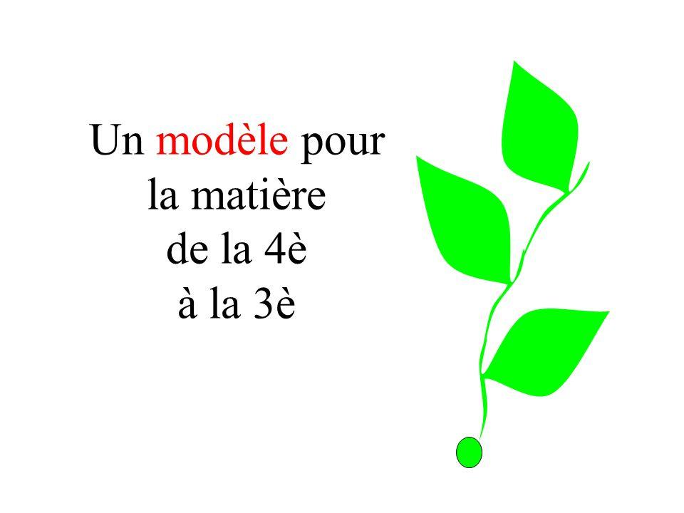 Un modèle pour la matière de la 4è à la 3è