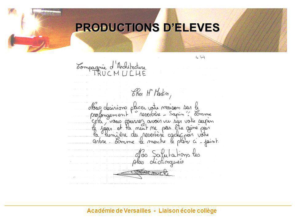 Académie de Versailles - Liaison école collège