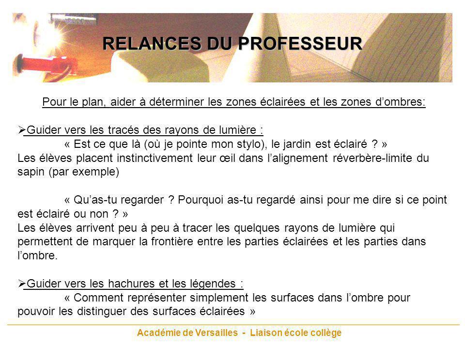 RELANCES DU PROFESSEUR