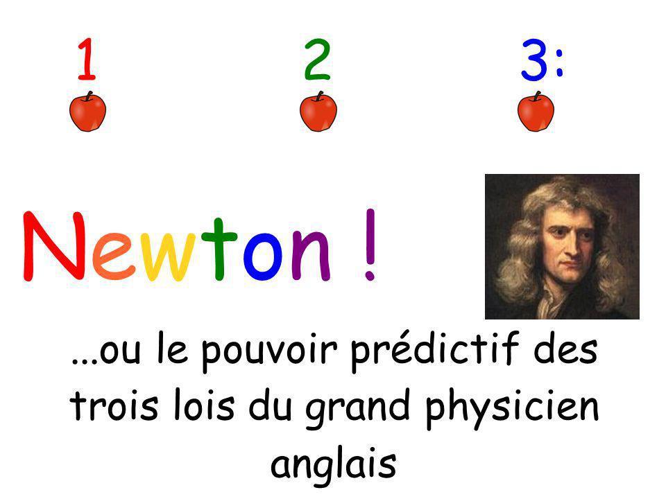 ...ou le pouvoir prédictif des trois lois du grand physicien anglais