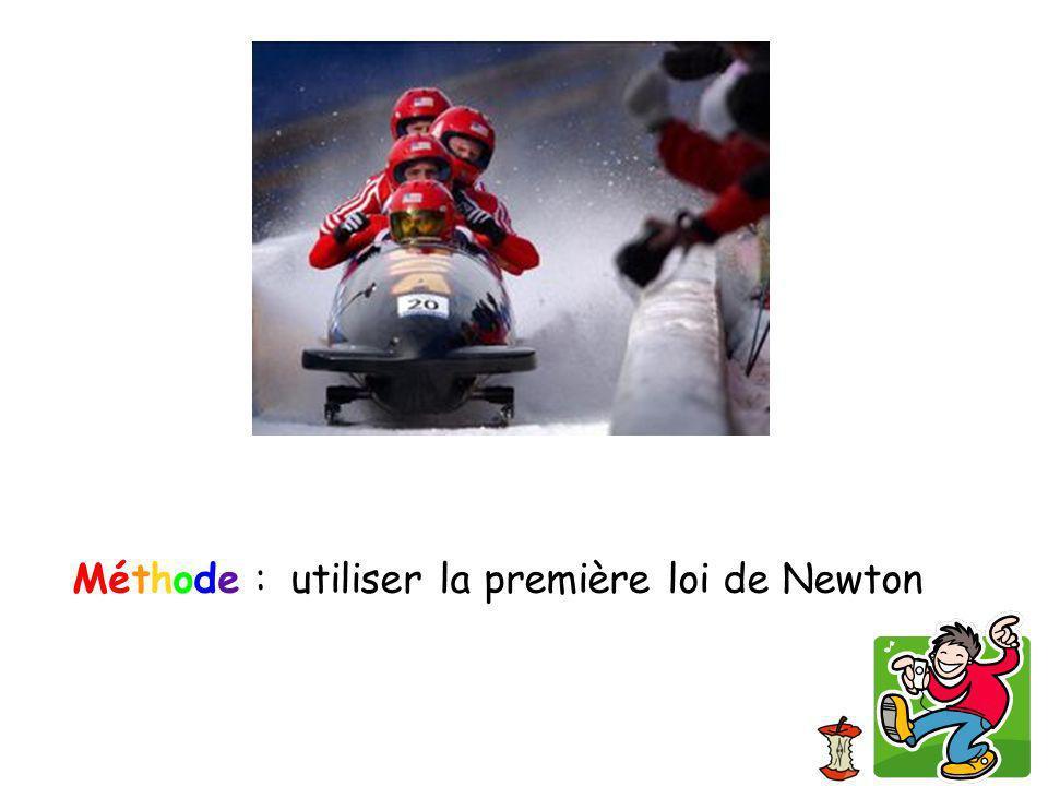 Méthode : utiliser la première loi de Newton