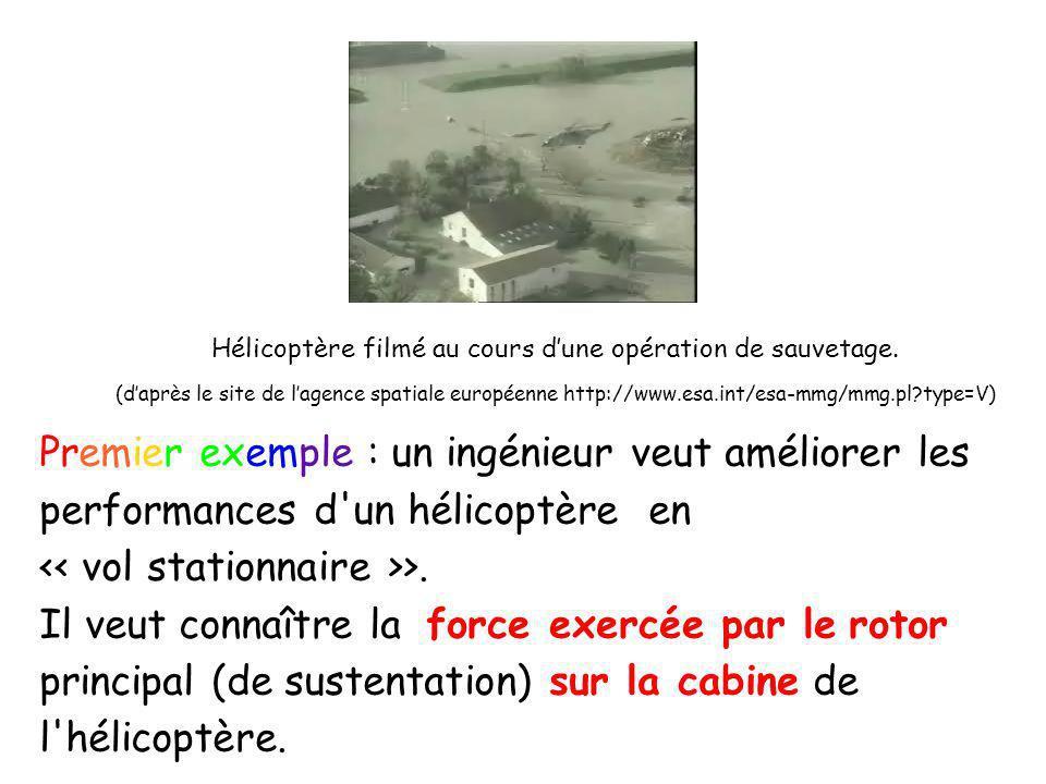 Hélicoptère filmé au cours d'une opération de sauvetage.